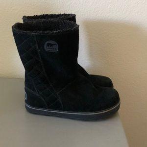 Black Sorel suede boots